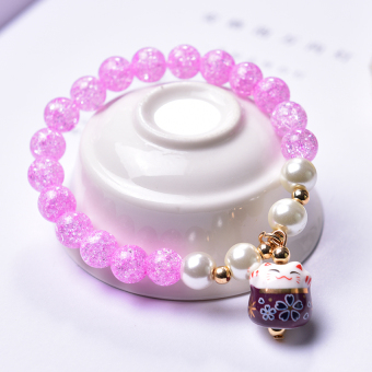 Couple's Korean-style female student crystal garnet bracelets bracelet
