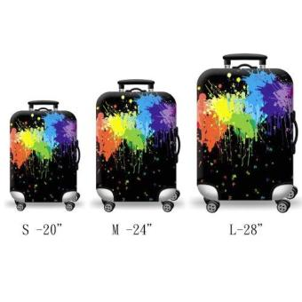 (Cover only) Elite Luggage Cover / Suitcase Cover ( Black Ink ) - Large - 2