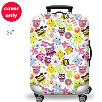 (Cover only) Elite Luggage Cover / Suitcase Cover ( Happy Owl)-medium