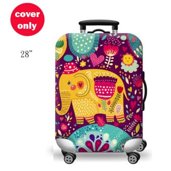 (Cover only) Elite Luggage Cover / Suitcase Cover ( Thai Elephant )- large