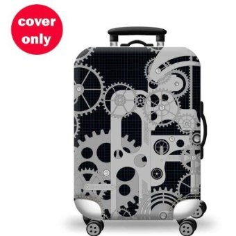 (Cover only) Elite Luggage Cover / Suitcase Cover ( Time Machine ) - medium