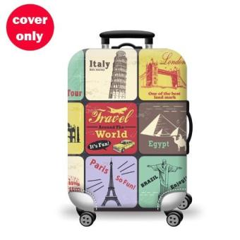 (Cover only) Elite Luggage Cover / Suitcase Cover ( World Travel )- large