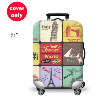 (Cover only) Elite Luggage Cover / Suitcase Cover ( World Travel )- medium
