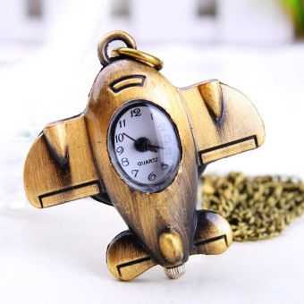Creative Pocket Watch Necklace Aircraft Model Retro Pocket Watch