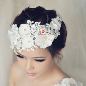 CROWN Japan and South Korea bride wedding high-grade lace floral headdress