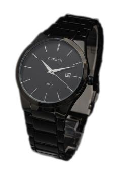 Curren Men's Black Stainless Steel Band Watch 8106