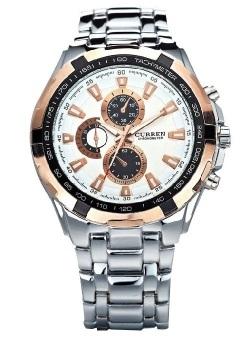 Curren Men's Silver Stainless Steel Strap Watch 8023