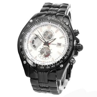 CURREN Men's Stainless Steel Strap Watch (Black White) - picture 2