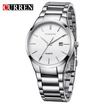 Curren Stainless Steel Strap Unisex Watch 8106 (Silver/White)