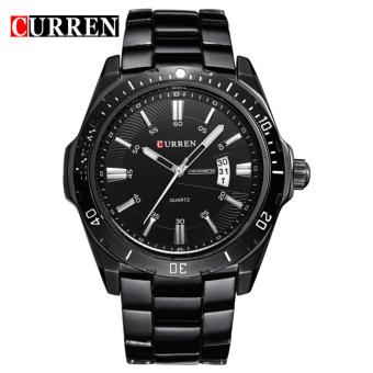 Curren Stainless Steel Strap Unisex Watch 8110 (Black/Black)