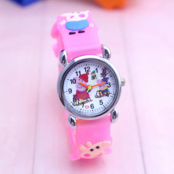 Cute children's clear with numbers watch