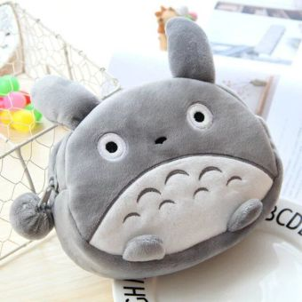 Cute plush portable big capacity clutch bag cosmetic bag
