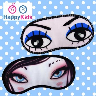 Cute Travel Sleeping Eye Mask for Girls/Women (Girl's Eye Design) - Set of 2