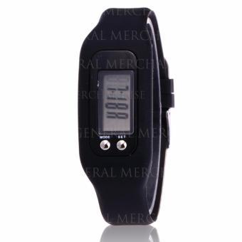 CWL Digital LCD Pedometer Bracelet Walking Distance Calorie Counter Watch (Black) - 3