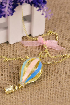 Cyber Dreamer on Air Crystal Focus Fire Balloon Necklace (Multicolor)