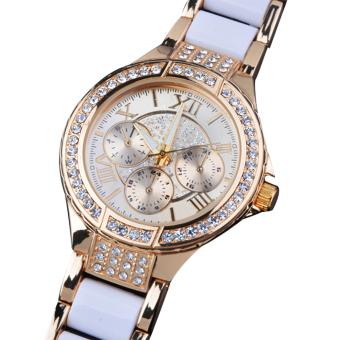 Cyber Fashion Quartz Crystal Women Wrist Watch ( Golden ) - picture 2