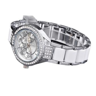 Cyber Fashion Quartz Crystal Women Wrist Watch ( Silver )