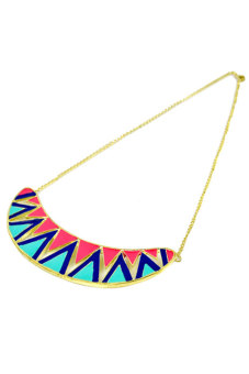 Cyber Punk Decent Candy Contrast Color Necklace Chain (Multicolor)
