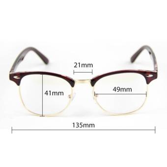 Cyxus Blue Light Filter Semi-Rimless Computer Glasses Anti Eyestrain UV Blocking Dark Brown Gaming Eyewear - intl - 4