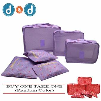 D&D 6 in 1 Secret Pouch Travel Organizer Set Buy One Take One (Random Color)
