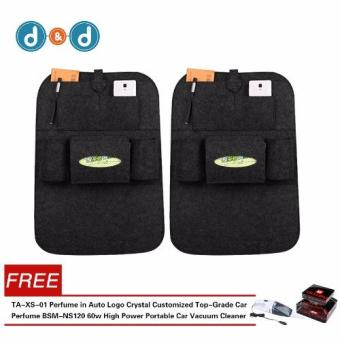 D&D Automobile Seat Back Suspension Vehicle Bag Bag In The CarAuto Supplies Storage Bag BUY 1 TAKE 1 With Free Top-Grade CarPerfume(Random)/ Car Vacuum Cleaner(Random)