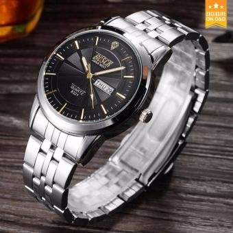 D&D BOSCK 8321 Unique Double Calendar Fashion Men's Steel-belt Quartz Watch