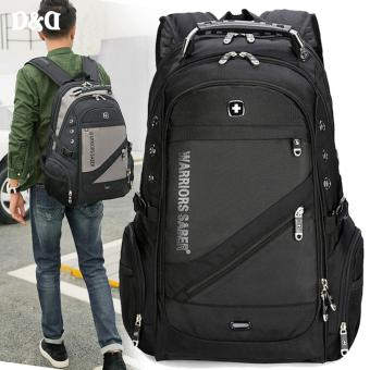 D&D BPK1418 New Outdoor Laptop Bag School Backpack Travel Luggage Waterproof Backpack With USB Charging Port(Black)