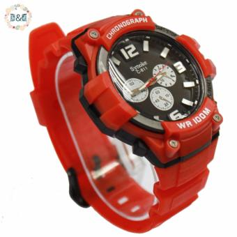D&D C811 Fashion Men Black Silicone Strap Sport Quartz Wrist Watch