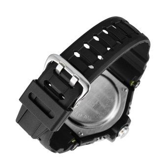 D&D Men's Black Multifunctional Diving Digital LED Outdoor Sports Rubber Strap Watch SNK-67876DD - 2