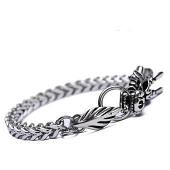 D&D ZD2 Dragon Design Bracelet (Silver) - 5
