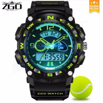 D&D ZGO 512 Men's LED Digital Outdoor Wristwatch Sports Electronic Watch(Green)