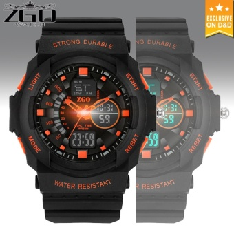 D&D ZGO Men's LED Digital 30M Outdoor Wristwatch Sports Electronic Watch (ORG)