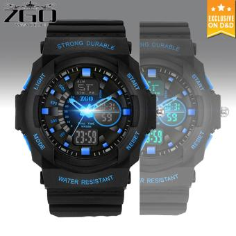 D&D ZGO Men's LED Digital Outdoor Wristwatch Sports Electronic Watch C-ZG316-Blue