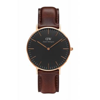 Daniel Wellington Classic Black Bristol 36mm Rosegold Watch