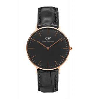 Daniel Wellington Classic Black Reading 36mm Rosegold Watch