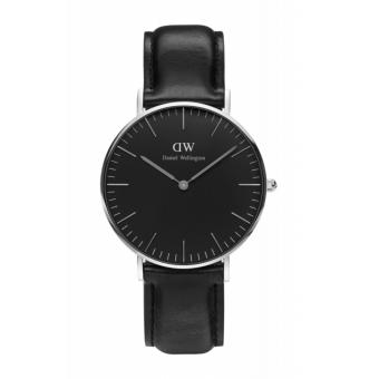 Daniel Wellington Classic Black Sheffield 36mm Silver Watch