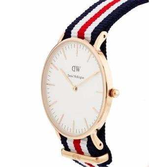 Daniel Wellington Classic Canterbury 40mm Rose Gold Blue Red WhiteNato Strap Watch - 2
