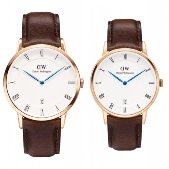 Daniel Wellington Dapper Bristol 38mm and 34mm Rosegold Couple Watch