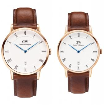 Daniel Wellington Dapper St. Mawes 38mm and 34mm Rosegold Couple Watch