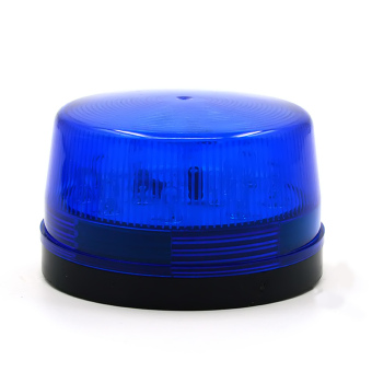 DC 12V 30mA Plastic Alarm Strobe LED Light Siren Blue