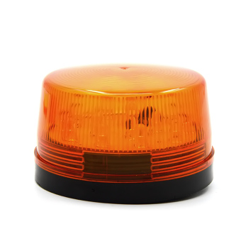 DC 12V 30mA Plastic Alarm Strobe LED Light Siren Orange