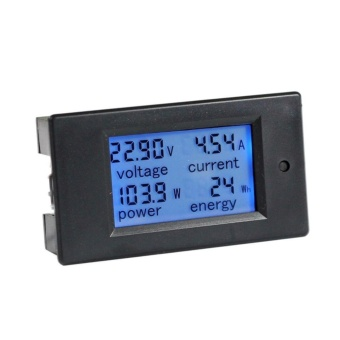 DC 6.5-100V 0-100A LCD Display Digital Current Voltage Power EnergyMeter Multimeter Ammeter Voltmeter with 100A Current Shunt - intl