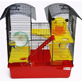 Deluxe Two Tower Hamster Cage (47 x 45 x 27.5cm)