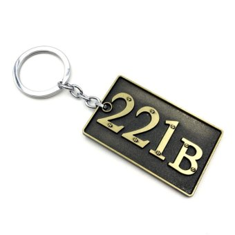 Detective Sherlock Holmes Keychain No 221B LOGO Sign Baker Street Doorplate Pendant keyring Souvenir Gift - intl Price Philippines