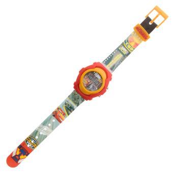 Disney Pixar Cars Boys Multicolor Plastic Strap Watch CARJ6A-17 - 4