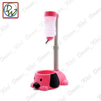 Dog Cat Water Feeder (Pink) - 4