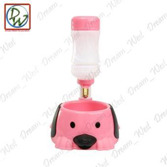 Dog Cat Water Feeder (Pink) - 2