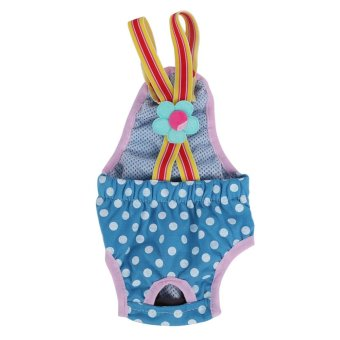 Dog Diaper Suspender Underwear Reusable Washable Pants Blue L - intl