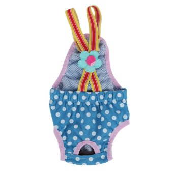 Dog Diaper Suspender Underwear Reusable Washable Pants Blue XS -intl