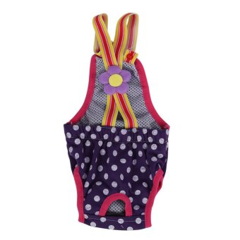 Dog Diaper Suspender Underwear Reusable Washable Pants Purple M -intl